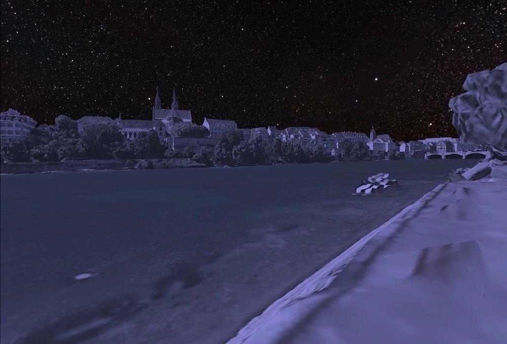 Google_Earth_VR_Basel_Rhein_in_der_Nacht